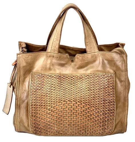 Reptile's House Handbag Leather Dark Sand