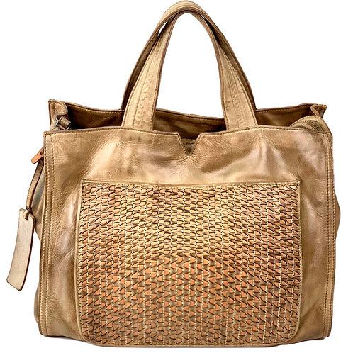 Reptile's House Handbag Leather Dark Sand