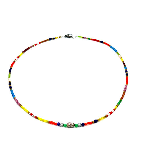 Catherine Michiels African Beads Men Necklace