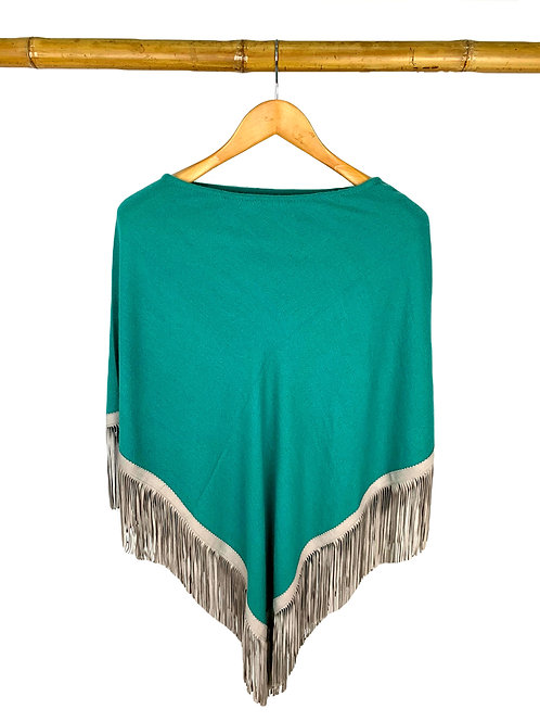 Classic Poncho Ocean Green