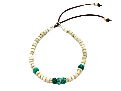 Catherine Michiels Men Bracelet with Turquoise