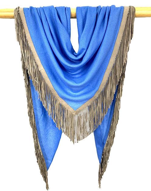 Open Poncho Sky Blue