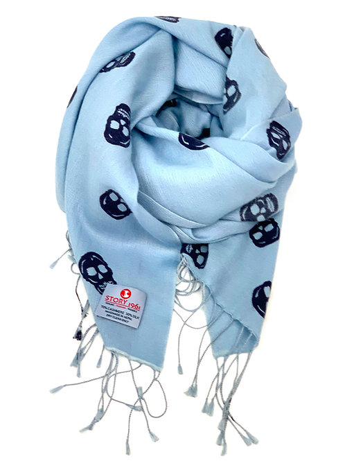Genuine Scarf Skull Baby Blue meets Navy
