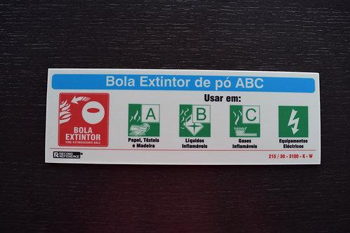 """Placa 235x80mm """"A B C Eléctrico"""" (IVA Incluído)"""
