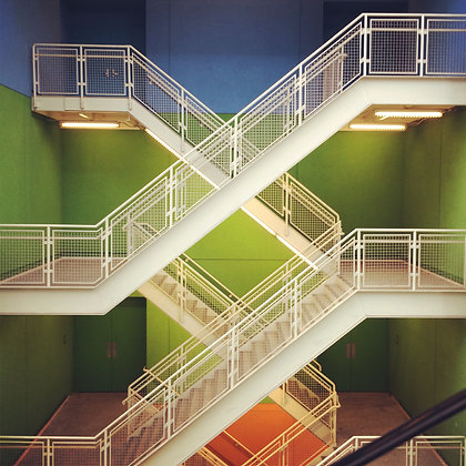 COLORFUL STAIRWELL | PRINT