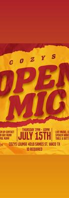Open Mic every Thursday
