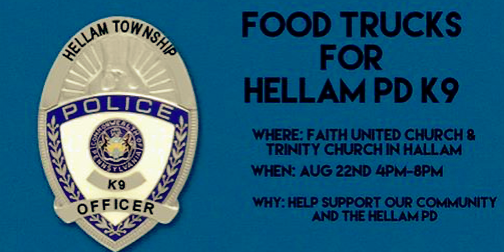Food Trucks for Hellam PD K9
