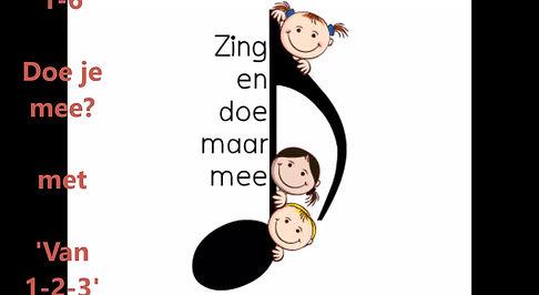 Kinderlied 0-4 over 'Van 1 2 3', zingen, bewegen en tellen.