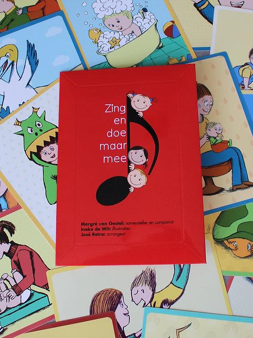 De Envelop, de 17 kaarten met liedjes, illustratie en informatie