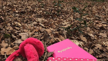 Journaling in the woods this makes me ha