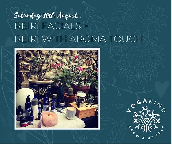 Reiki Facials + Reiki with Aroma Touch (