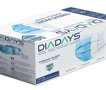 diadays surgical face masks Type IIR