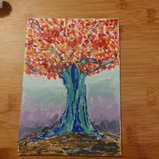 Tree - Left Over Paint Series