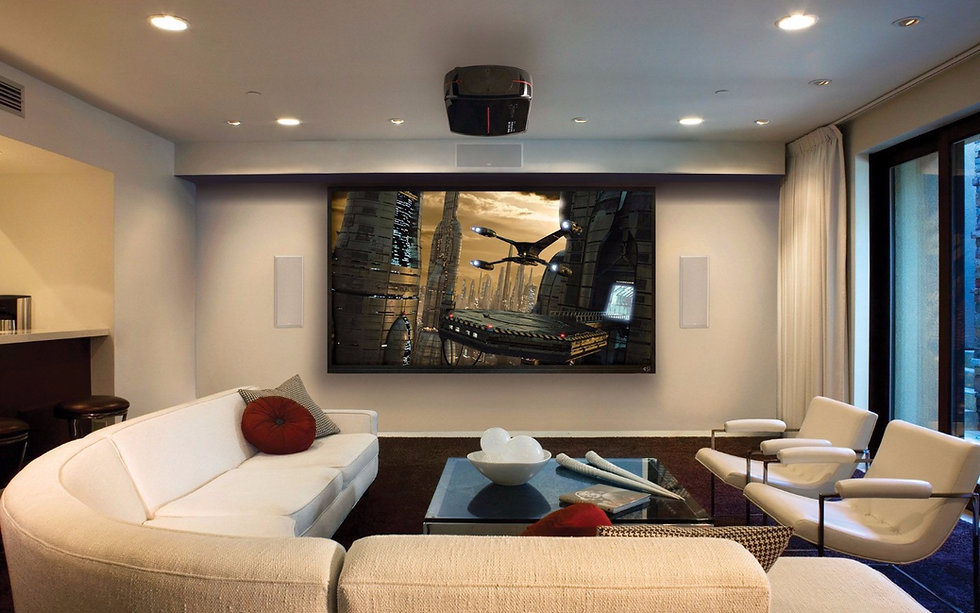 Media Room in Albuquerque with HiFi Audio and Smart Home Automation by SmartVolt AV