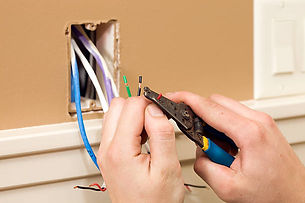 Low Voltage wires during Trim Out phase of construction