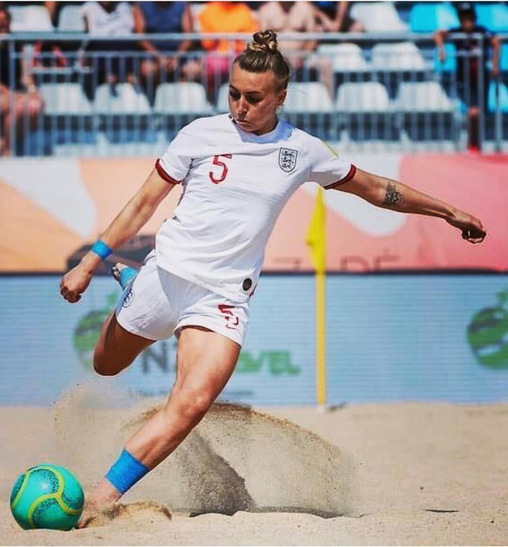 Hannah Short England Beach Soccer