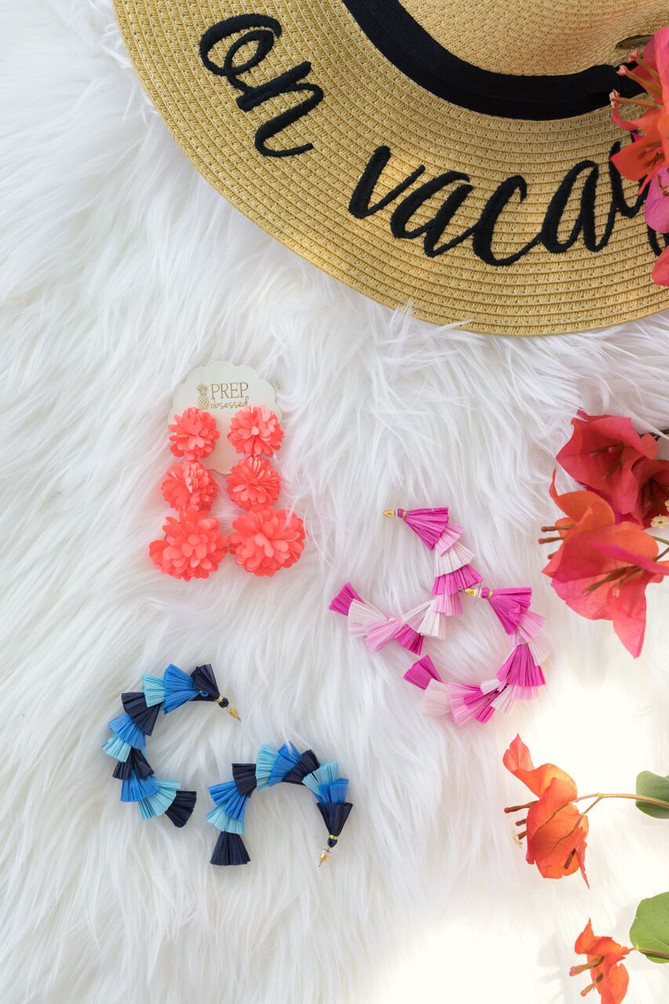 Summer Statement Earrings with Prep Obsessed