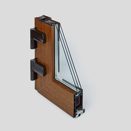 Дверной уголок EURO-Design_золотой дуб, входная дверь рехау, пластиковая дверь рехау, входная группа, двери рехау, rehau дверь
