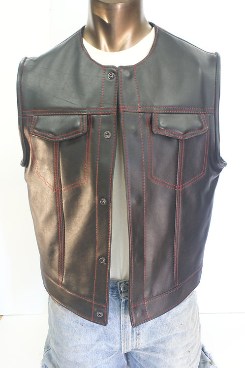 Master Cut de Luxe, Bandit Black Cowhide, Red Stitching