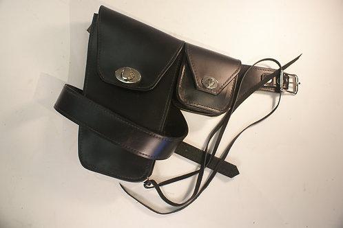 """Side Pocket Belt """"High Noon"""", Black"""