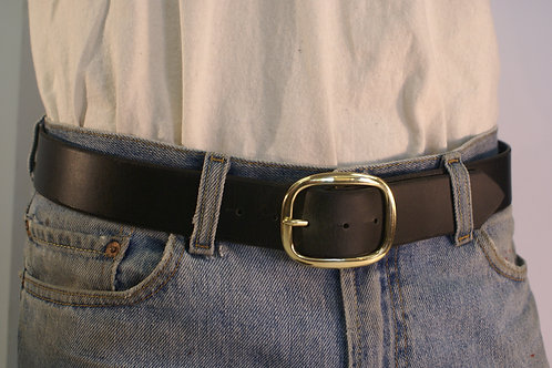 Full-Cowhide Belts, Top-Grain California Latigo Leather, 34 inch waste