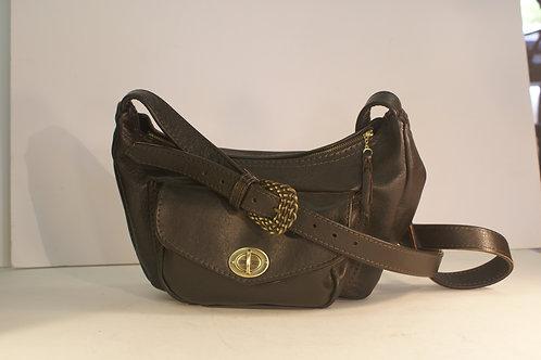 "Shoulder Bag/ Purse ""Socius"", Size Medium, Dark Chocolate Brown"
