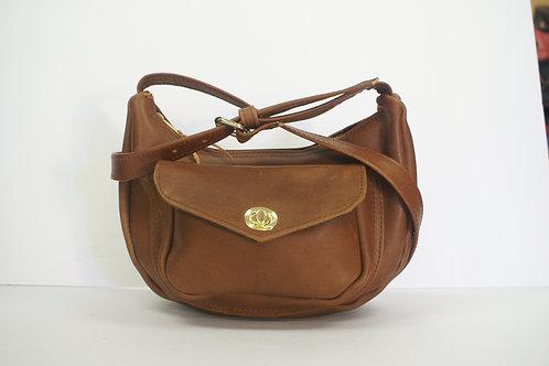 """Handbag """"Socius"""", Size Medium, in Tobacco Brown Latigo"""