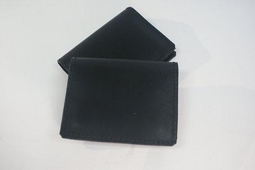 "Bifold Wallet ""Basic Rock"", Double-Stitched, Black Saddle Leather"