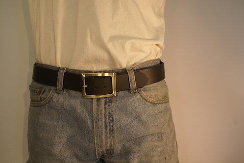 "Full Cowhide, California Latigo Leather Belt ""The Wave"" 38inches"