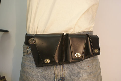 "Pouch Belt/ Festival Belt/ Pocket Belt ""Black Rock City Dweller"""