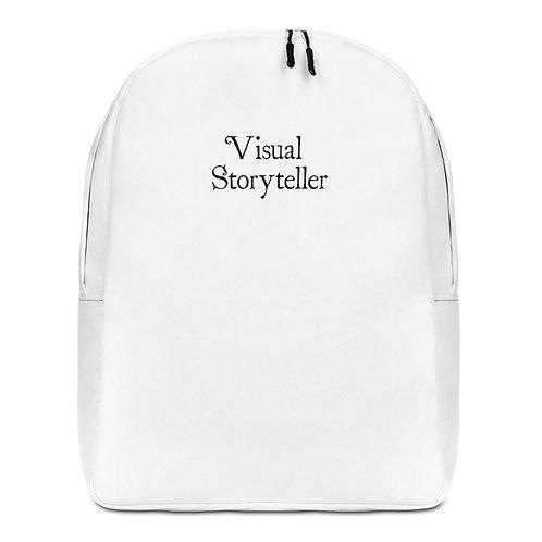 Visual Storyteller Minimalist Backpack (black font)