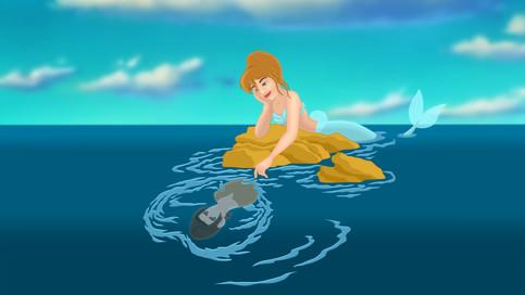 Mermaid Cinderella & Jim Hawkins