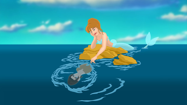 Mermaid Cinderella & Jim Hawkins