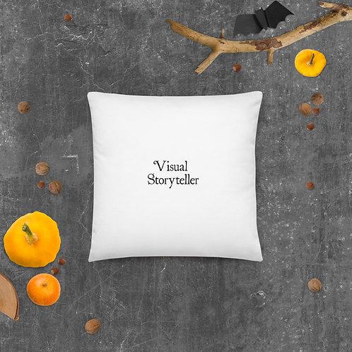 Visual Storyteller Basic Pillow (black font)
