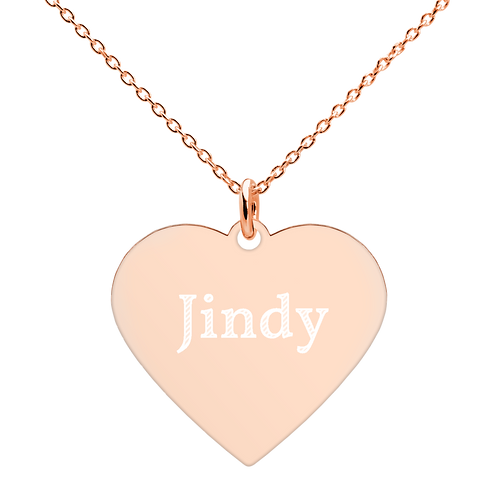 Jindy Engraved Heart Necklace