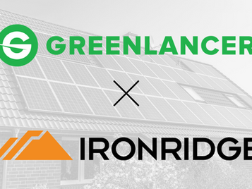IronRidge Inc. Partners with GreenLancer to Streamline Cost-Effective, Premium Solar Installation
