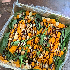 Pumpkin, Spinach & Macadamia Nut Salad
