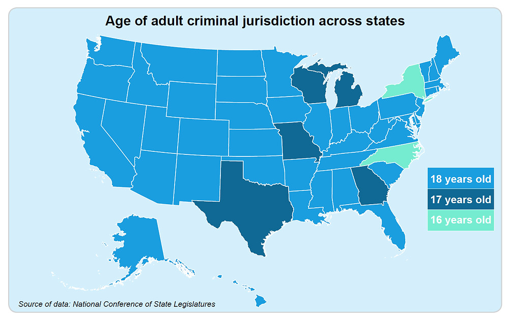 Image result for raise the age map