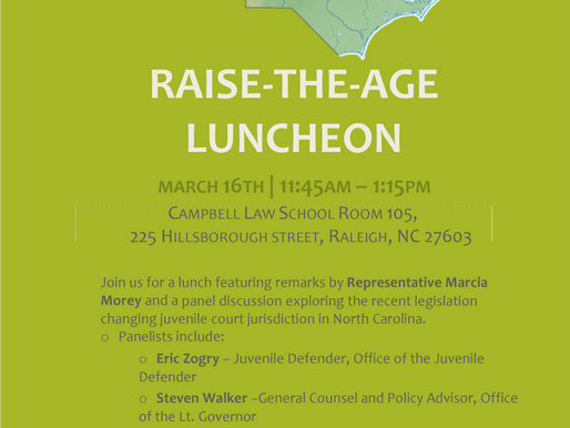 Campbell Law Hosts Raise the Age Luncheon