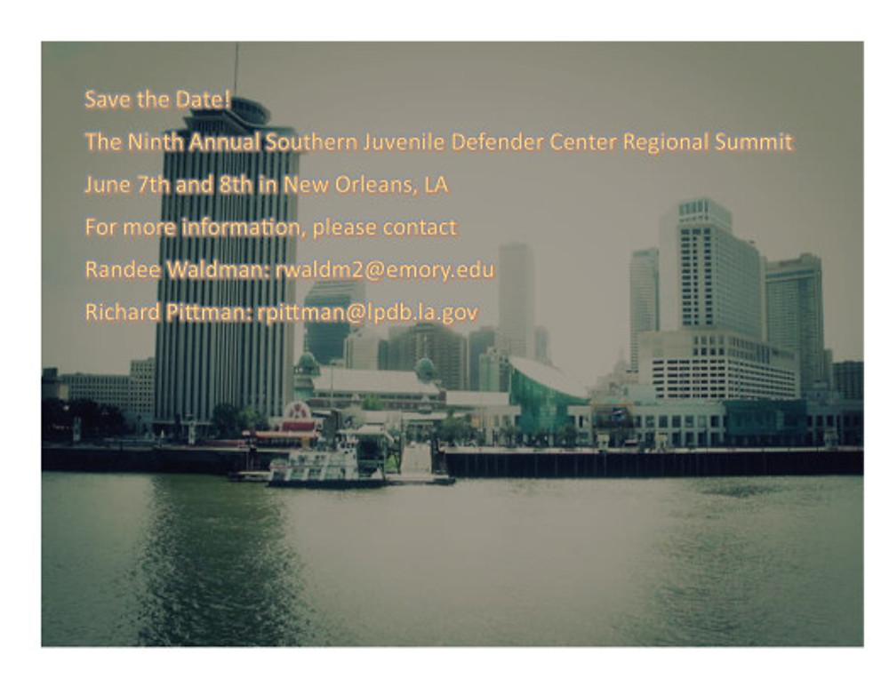 SJDC Regional Summit 2019 Save the Date1
