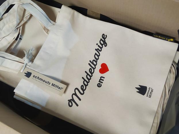 tote-bags de Noël pour les ainés * mairie de Mittelbergheim
