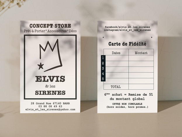 cartes de visite * concept store