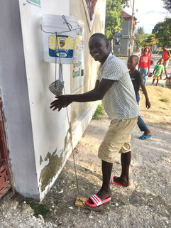 Hand-washing station