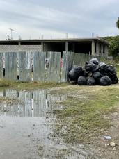 Village cleanup begins.HEIC