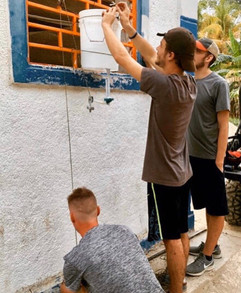 Creating a commUNITY hand-washing station