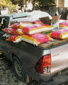 Truck full of beans, rice, & oil for our commUNITY