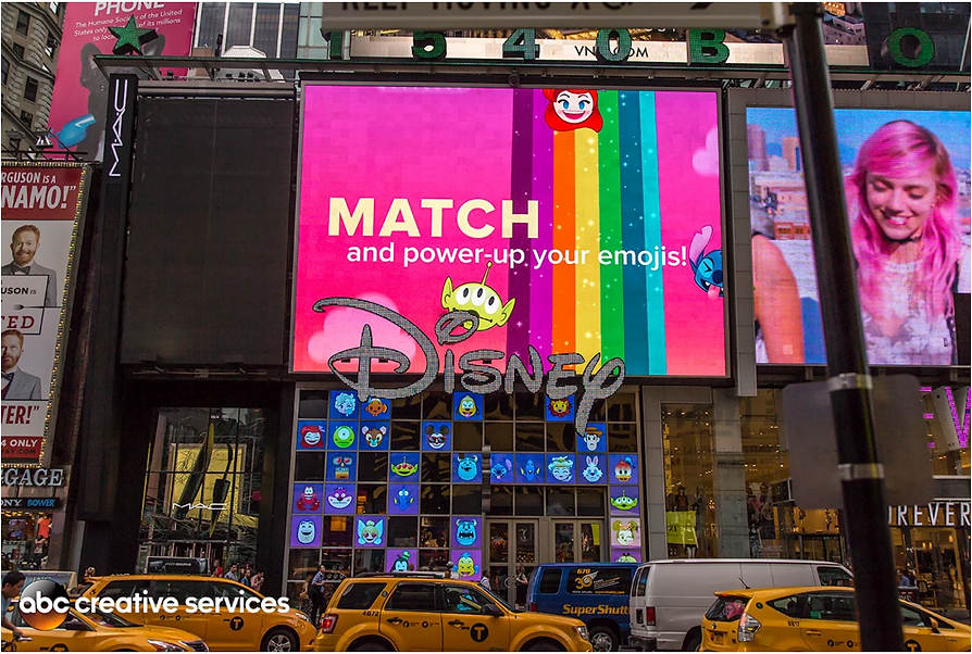 Emoji Blitz trailer in Time Square