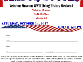 Veterans Museum- Arts and Crafts Booth