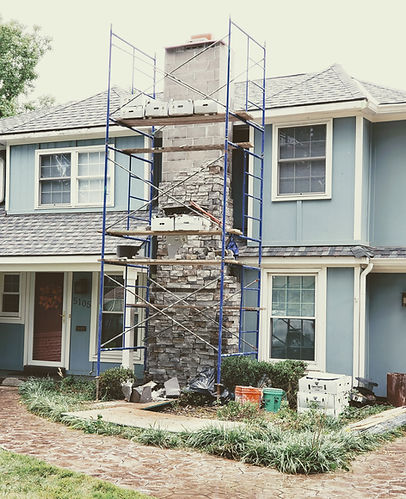 Chimney Repair Reconstruction Stone Kans