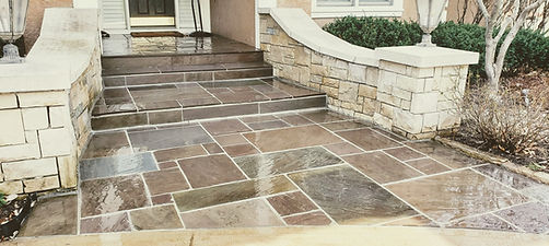Bluestone Masonry Patio Steps Repair Kan